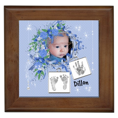 Framed Tile   Cute Baby Boy By Laurrie   Framed Tile   Tzxrj6dbqy07   Www Artscow Com Front