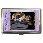Purple Love money case with gold swirls - Cigarette Money Case