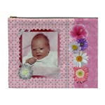 Pink Floral XL Cosmetic Bag - Cosmetic Bag (XL)