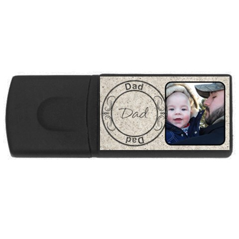 Dad 4 Gig Usb Flash Drive By Lil    Usb Flash Drive Rectangular (4 Gb)   M6x6gmp39y48   Www Artscow Com Front