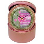 Pink flowers - jewelry case watch - Jewelry Case Clock