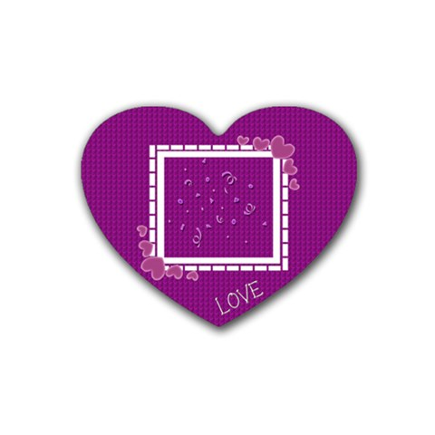 Love Coaster By Daniela   Rubber Heart Coaster (4 Pack)   Pnu4tdmftl2y   Www Artscow Com Front