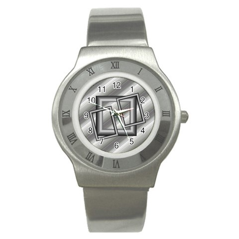 Grey Sports Watch By Daniela   Stainless Steel Watch   J59etpsk83j0   Www Artscow Com Front