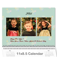 2011calender By Mamie Fritz   Wall Calendar 11  X 8 5  (12 Months)   Pvxh4va9f6df   Www Artscow Com Cover