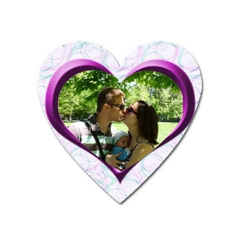 U & Me Magnet By Daniela   Magnet (heart)   Pt5ra1k6lv55   Www Artscow Com Front