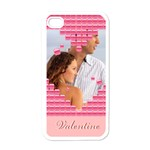 love forever - Apple iPhone 4 Case (White)