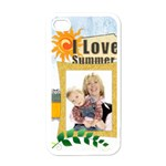 love summer - Apple iPhone 4 Case (White)