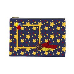 Primary Cardboard Large Cosmetic Bag 1 By Lisa Minor   Cosmetic Bag (large)   Bde7fex82x00   Www Artscow Com Front