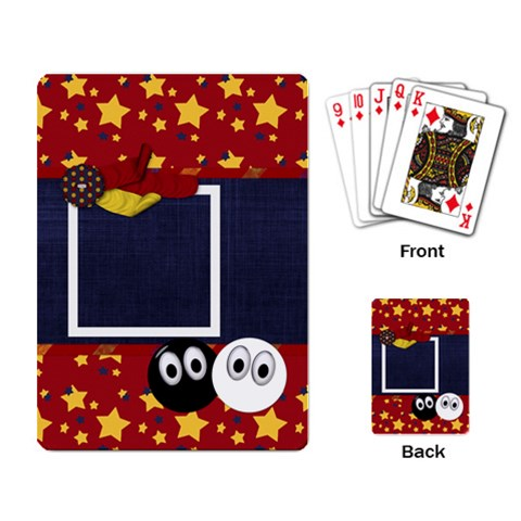 Primary Cardboard Playing Cards 1 By Lisa Minor   Playing Cards Single Design   206ef4bsmy7x   Www Artscow Com Back