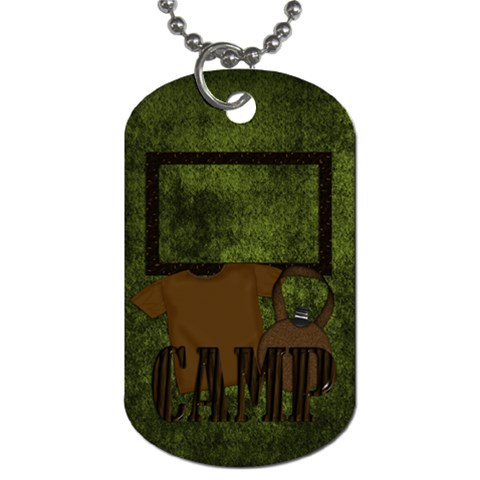 Camp Nono Dog Tag 1 By Lisa Minor   Dog Tag (one Side)   Ly47catog933   Www Artscow Com Front