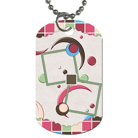 Bloop Bleep Dog Tag 1 By Lisa Minor   Dog Tag (one Side)   Wdf4u9wy6ywa   Www Artscow Com Front