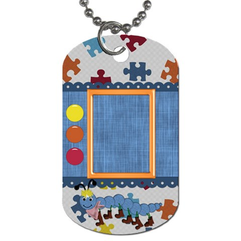 Silly Summer Fun Dog Tag 1 By Lisa Minor   Dog Tag (one Side)   Uccrqvtmg2ih   Www Artscow Com Front