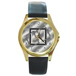 Silver watch - Round Gold Metal Watch