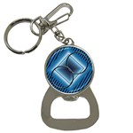 Blue bottle opener key - Bottle Opener Key Chain