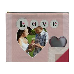 Saving All My Love For You Xl Cosmetic Bag By Lil    Cosmetic Bag (xl)   Qh5kg9iubgqm   Www Artscow Com Front
