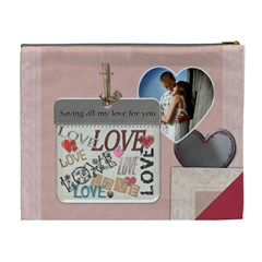 Saving All My Love For You Xl Cosmetic Bag By Lil    Cosmetic Bag (xl)   Qh5kg9iubgqm   Www Artscow Com Back