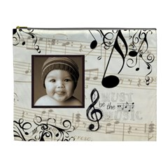 Must Be The Music Extra Large Cosmetic Bag By Catvinnat   Cosmetic Bag (xl)   Hs0kl4lmnwlm   Www Artscow Com Front