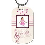 Must be the music pink ballerina  Dog Tag - Dog Tag (Two Sides)