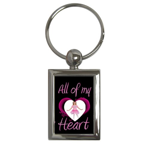 Pink All Of My Heart Keyring By Catvinnat   Key Chain (rectangle)   24knjvsm7fxj   Www Artscow Com Front