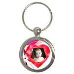 Ruby Heart Keyring - Key Chain (Round)