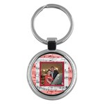 Red music round  keyring - Key Chain (Round)