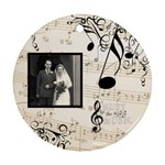 Must be the Music Sepia Single side ornament - Ornament (Round)