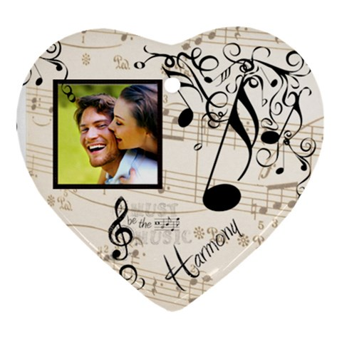 Must Be The Music Heart Ornament By Catvinnat   Ornament (heart)   Vd1bphfupht6   Www Artscow Com Front
