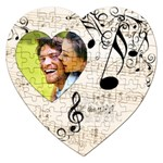 Must be the Music Heart Puzzle - Jigsaw Puzzle (Heart)
