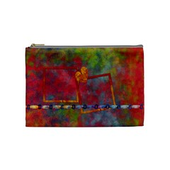 Tye Dyed Medium Cosmetic Bag 1 By Lisa Minor   Cosmetic Bag (medium)   Feq1h87koa7i   Www Artscow Com Front