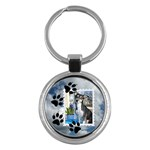 Dog Prints Round Key Chain - Key Chain (Round)
