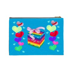 All About Love Cosmetic Bag Lg By Kdesigns   Cosmetic Bag (large)   0uny5x1eur60   Www Artscow Com Back