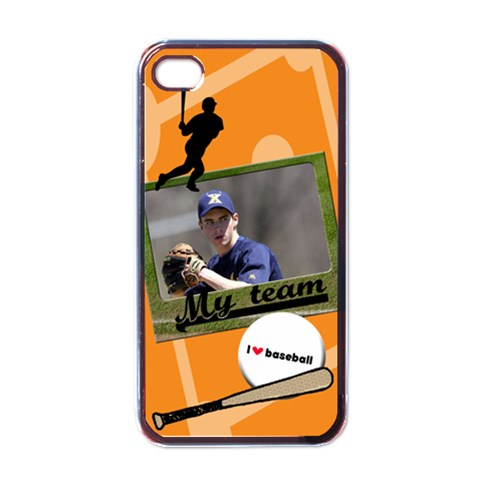 Baseball   Iphone Case By Carmensita   Apple Iphone 4 Case (black)   Verrf34giwj4   Www Artscow Com Front