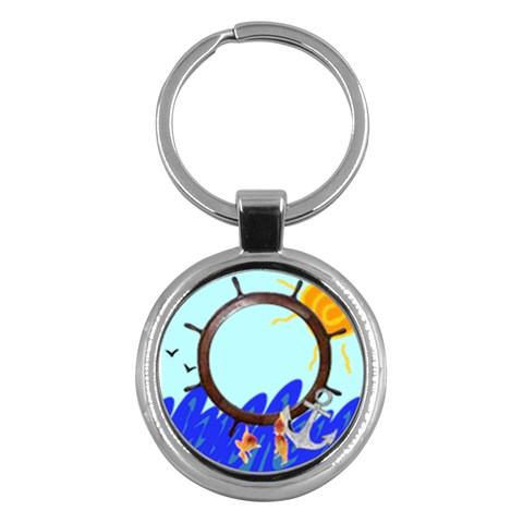 Sea   Hey Chain By Carmensita   Key Chain (round)   Rln7gcpb52hm   Www Artscow Com Front