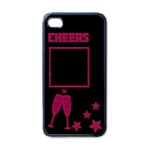 Cheers Pink   Iphone Case By Carmensita   Apple Iphone 4 Case (black)   Mk59fcux2128   Www Artscow Com Front