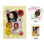 Pretty Floral Playing Cards - Playing Cards Single Design