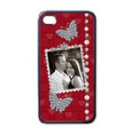 Butterfly Kisses Apple iPhone Case - Apple iPhone 4 Case (Black)