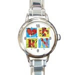 REGISTERED NURSE MEDICAL CAREER ROUND ITALIAN CHARM WATCH