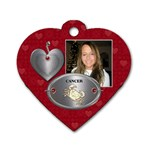 Cancer Zodiac Heart Dog Tag - Dog Tag Heart (One Side)