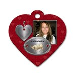 Capricorn Zodiac Heart Dog Tag - Dog Tag Heart (One Side)