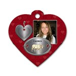 Taurus Zodiac Heart Dog Tag - Dog Tag Heart (One Side)