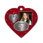 Scorpio Zodiac Heart Dog Tag - Dog Tag Heart (One Side)