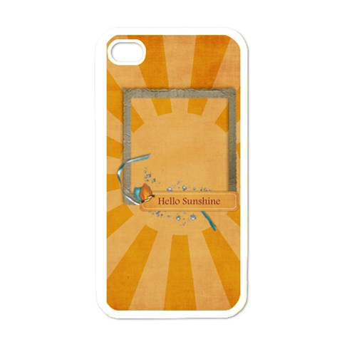Hello Sunshine  Iphone Case Template By Mikki   Iphone 4 Case (white)   Cof5vlv9727p   Www Artscow Com Front