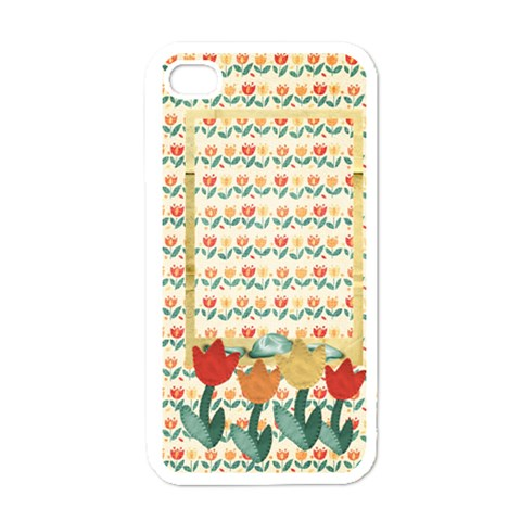 Tulips Iphone Case Template By Mikki   Iphone 4 Case (white)   Af0t9nnvjxt1   Www Artscow Com Front