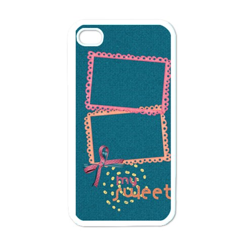 My Sweet Iphone Case Template By Mikki   Apple Iphone 4 Case (white)   K58o8nkv351b   Www Artscow Com Front