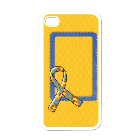 Autism Awareness Iphone Case Template By Mikki   Apple Iphone 4 Case (white)   4dv2angjy5uf   Www Artscow Com Front