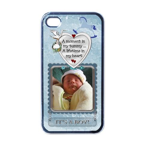 It s A Boy Apple Iphone Case By Lil    Apple Iphone 4 Case (black)   Ik3aouf3hu1v   Www Artscow Com Front