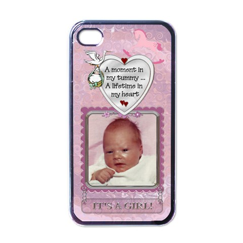 It s A Girl Apple Iphone Case By Lil    Iphone 4 Case (black)   Uq1gegg3badz   Www Artscow Com Front