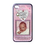 It s A Girl Apple iPhone Case - Apple iPhone 4 Case (Black)