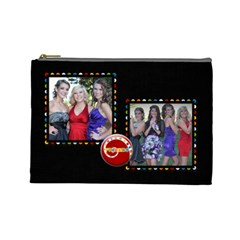 C&c2 By April Forrester   Cosmetic Bag (large)   Smatz6pdtvf4   Www Artscow Com Front