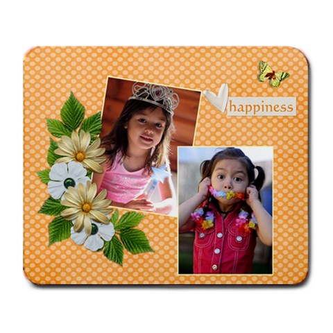 Mousepad  Happiness By Jennyl   Collage Mousepad   Rjj6nm64yes3   Www Artscow Com 9.25 x7.75 Mousepad - 1